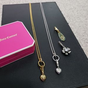 Juicy Couture necklace and charms